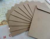 60 pcs  Natural Brown Envelopes Kraft paper bags size A6 / 4.5 inch X7 inch  for postcard