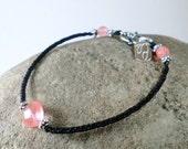 Cherry  quartz  crystal bracelet.