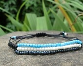 Trio Braided  Macrame Friendship Bracelets by Cartouche.