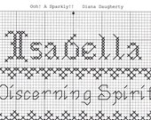 Custom Designed Cross Stitch - Isabella with Bible Meaning of Discerning Spirit .pdf