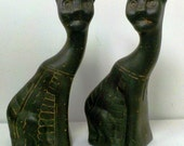 Egyptian Cat bookends/figurines