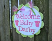 Baby Shower Door Sign - Welcome Baby