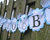 Bridal Shower Banner - Tiffany's Blue - Bride To Be - Glitter Banner