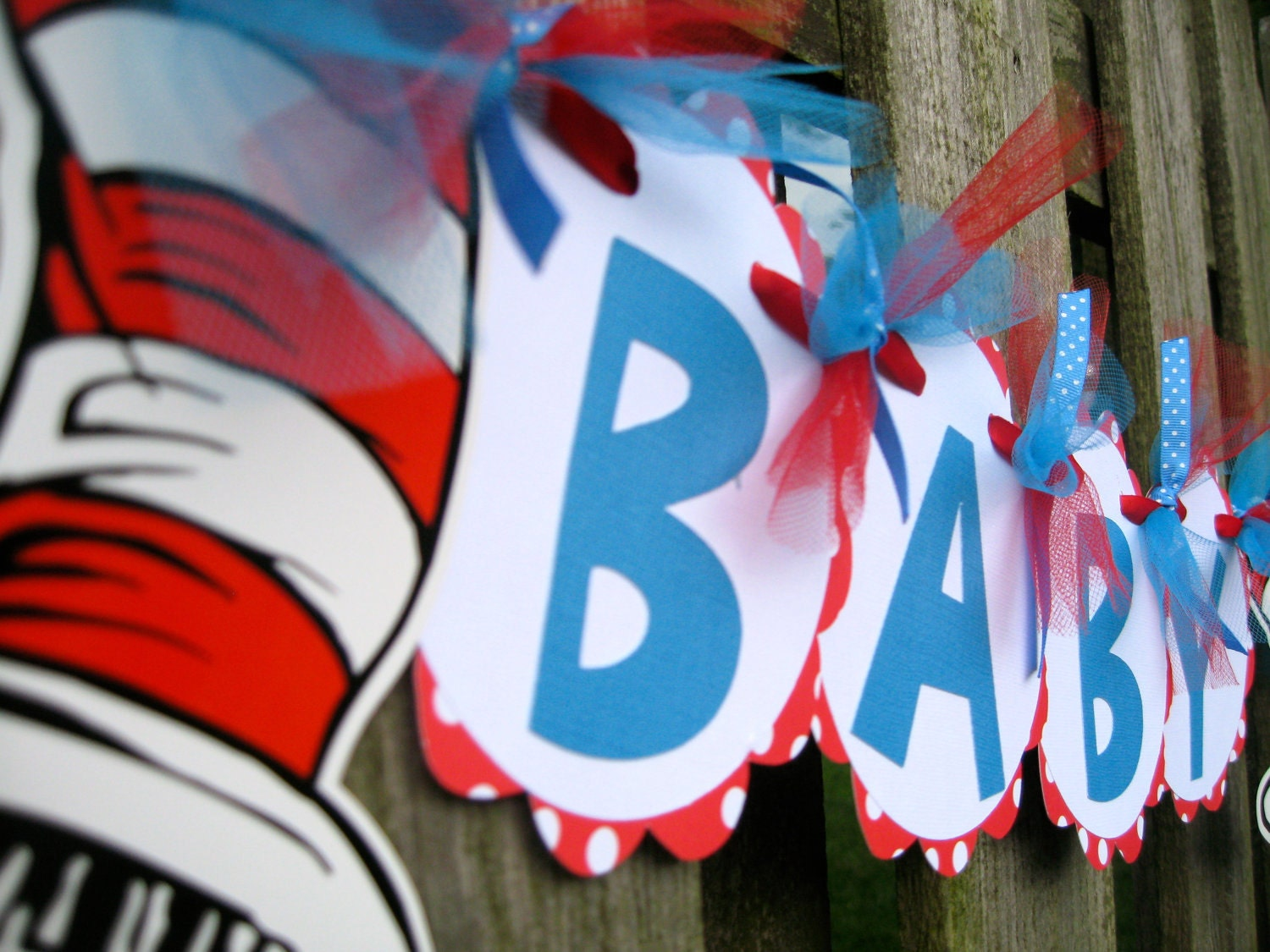 items similar to baby shower banner cat in the hat dr seuss on