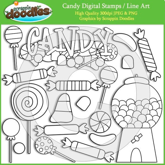 Candy Digital Stamps