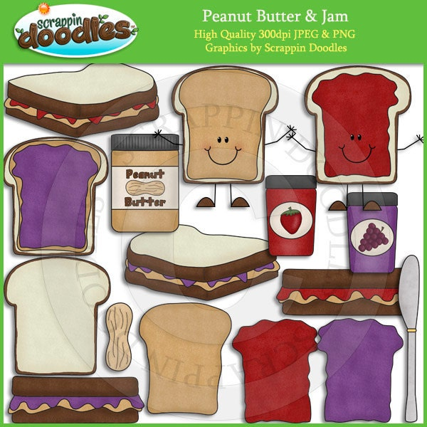 Peanut Butter and Jam Clip Art