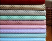 Cotton Fabric square fat quarter bundles / sets 9 pieces pindot pattern 100% cotton FBC02