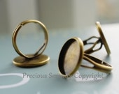 16mm 6pcs Brass Ring Base Settings Antique Vintage style Inner size of base 16mm B213