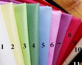 Cotton Fabric square fat quarter bundles / sets 11 colors plain 100% cotton FBC55