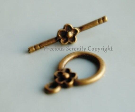 10sets Toggle Bar Clasp / Antique Bronze OT Bracelets Clasp Vintage style  B242