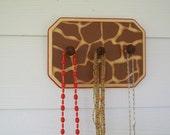 OOAK Giraffe Jewelry Holder, Wood, Decorative Art, Home Decor