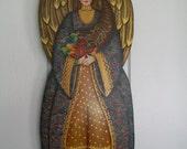 Harvest Angel, Wood, Home Decor, Decorative Art, Seasonal