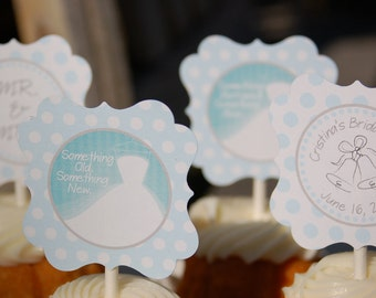 Bridal Shower Cupcake Toppers/Tags