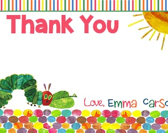 Very Hungry Caterpillar Thank You Card- Printable
