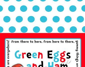 Dr. Seuss Food Labels/Tents- Printable