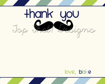 Little Man Thank You Card- Printable