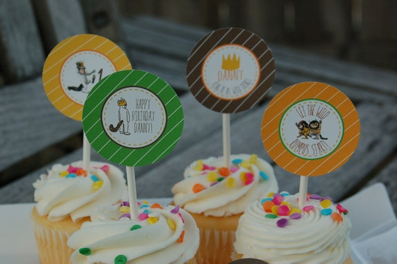 Where the Wild Things Are Cupcake Toppers/Tags- Printable