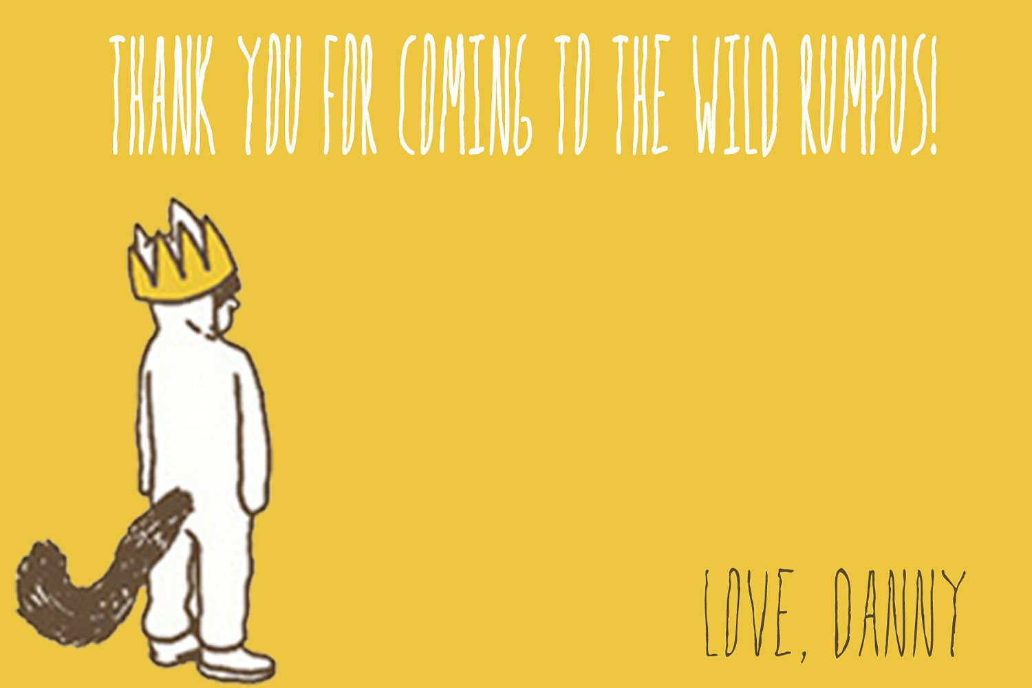 Where the Wild Things Are Thank You Card by jenleonardini on Etsy