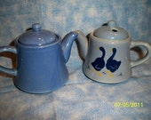 Blue Miniature Teapots