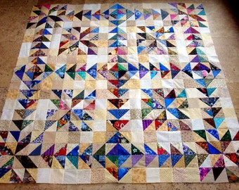 CHASING GOOSE and LUCK  Quilt Top