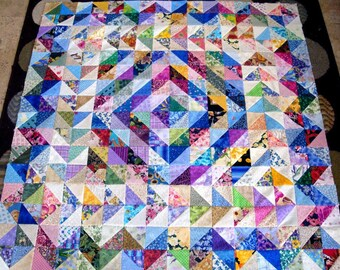 GORGEOUS RAINBOW MAZE Quilt Top