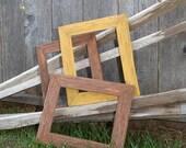 SALE - Rustic Redwood Vineyard Stake Frame Set - Earth
