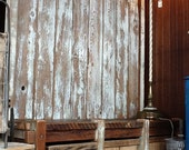 SALE  Reclaimed Wood Rustic Hall Tree Bench Mortise Tenon Joints