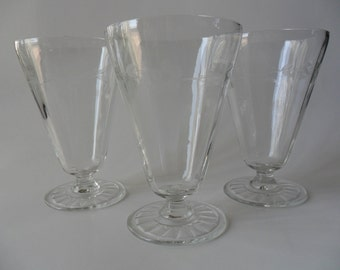 Vintage Crystal Dessert Cup, Wine Glass Trio