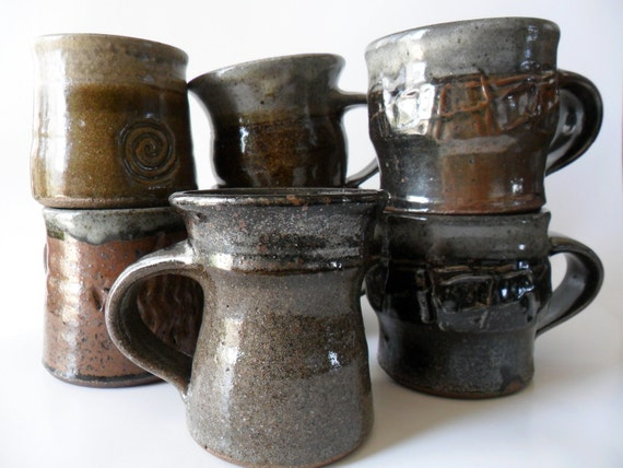 Collection of 7 Vintage Ceramic Mugs - Price Reduced