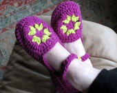 Womens Crochet Slipper Pattern  No. 6