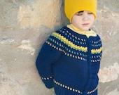 Boy Fair Isle Style Crochet Sweater Pattern No. 9