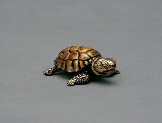 Mojave, a desert tortoise, limited edition bronze sculpture