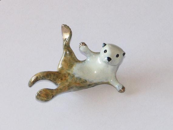 Cambria, a Sea Otter, limited edition bronze sculpture