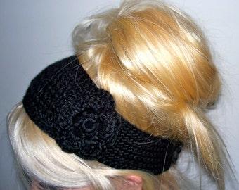 Crochet Flower Headband/ Earwarmer - Pick your color