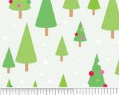 "Riley Blake Christmas Candy ""Trees"" Flannel - Main White 1 yard"
