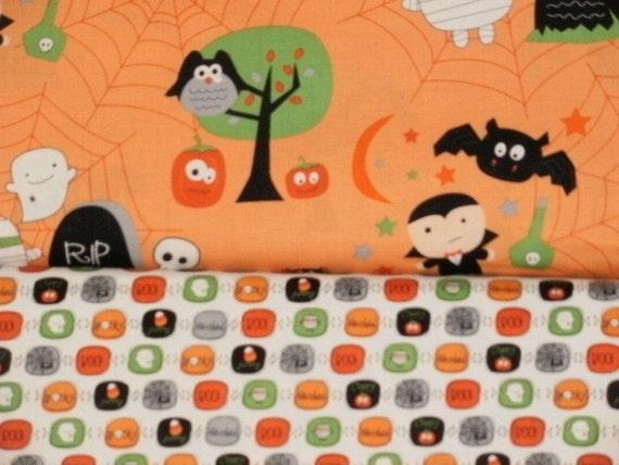Halloween Fabric - Riley Blake Boo to You by My Minds Eye - 1/2 yard bundle Orange