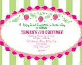 Strawberry Shortcake Birthday Printable invitation