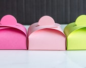 12 Adorable Favor Boxes in Your Choice of Colors with Free Shipping