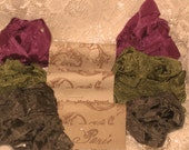 French Inspired Seam Binding Ribbon Distressed and Scrunched  - La Rose Jardin - French Marche (SB001)