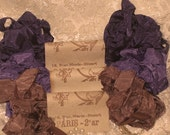 French Inspired Seam Binding Ribbon Distressed and Scrunched  - Cafe Violette- French Marche (SB006)