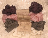 French Inspired Seam Binding Ribbon Distressed and Scrunched  - French Elegance - French Marche (SB014)