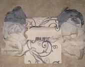 Seam Binding Hand Dyed - Distress Antiqued Vintage Inspired - Crinkled - Gris Delight Paris Market (HDSB011) ECS