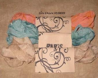 Seam Binding Hand Dyed - Distress Antiqued Vintage Inspired - Crinkled - Cote d'Azure Paris Market (HDSB009)