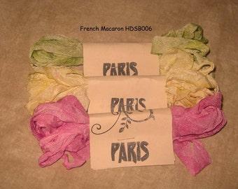 Seam Binding Hand Dyed - Distress Antiqued Vintage Inspired - Crinkled - French Macaron Paris Market (HDSB006) ECS