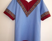 Medieval Tunic Blue with V-yoke