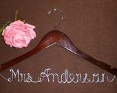 Hanger One Line for your wedding pictures, Personalized custom bridal hanger, brides hanger, Bridal Hanger, Wedding hanger, Bridal