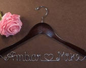 Bridal Hanger One Line for your wedding pictures, Personalized custom bridal hanger, brides hanger, Bridal Hanger, Wedding hanger, Bridal