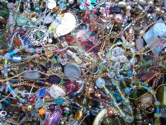 Beaded jewelry destash treasure hunt grab bag