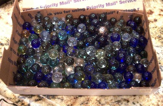 Vintage marbles flat rate box