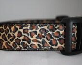 Leopard Print Adjustable Dog Collar